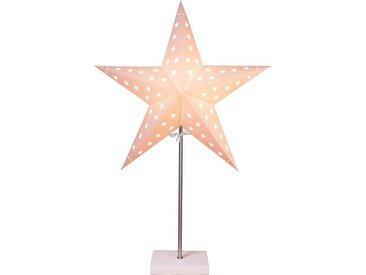 "STAR TRADING LED Stern »""Leo"" - stehend - 5-zackig - D: 43cm, H: 65cm - E14 Fassung - inkl. Kabel - weiß«"