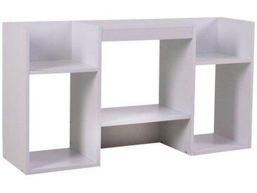MCW TV-Rack »N72-T«, klassisch-modernes Design, 6 geräumige Ablageflächen, praktisches Gerätefach, weiß, weiß