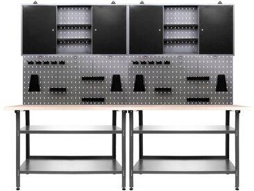 ONDIS24 Werkstatt-Set »Nobbi«, 240 cm, schwarz, 85 cm, schwarz