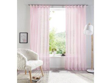 my home Gardine »Xana«, Schlaufen (1 Stück), rosa, rosé