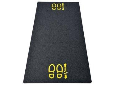 """acerto® Fußmatte »acerto Bodenschutzmatte mit Hinweis """"1,5m Abstand"""" aus recyceltem Gummi 180x80cm«"""