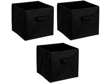 ADOB Aufbewahrungsbox »Faltboxen« (Set), Inklusive Haltegriff, schwarz, schwarz