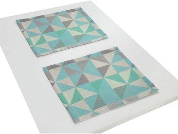 Adam Platzset, »Bio Bel«, GOTS zertifiziert, nachhaltig, blau, hellblau