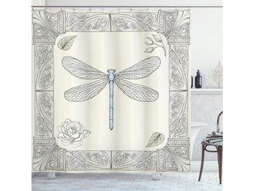 Abakuhaus Duschvorhang »Moderner Digitaldruck mit 12 Haken auf Stoff Wasser Resistent« Breite 175 cm, Höhe 180 cm, Libelle Royal Rose Petals