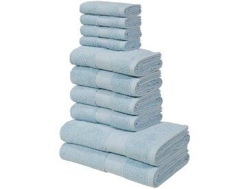 my home Handtuch Set »Ally« (Set, 10-tlg), in dezenten Unifarben, blau, hellblau