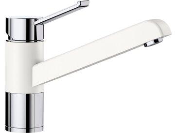 Blanco BLANCO Küchenarmatur »ZENOS«, Hochdruck, weiß, Strahl nicht umschaltbar, Bedienhebel oben, weiß/chrom x silgranitweiß/chrom