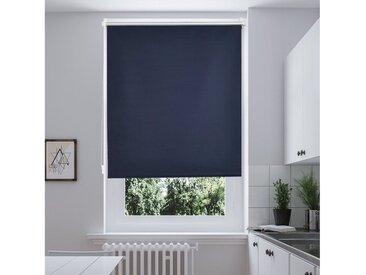 i@home Seitenzugrollo »Thermorollo-Beige«, verdunkelnd, ohne Bohren, Freihängend, Hitzeschutz, blau, Blau