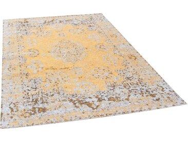 TOM TAILOR Teppich »Funky Orient Kirman«, rechteckig, Höhe 5 mm, Kurzflor, Vintage Design, Orient-Optik, goldfarben, goldfarben