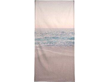 Juniqe Strandtuch »Rosegold Beach Morning« (1-St), Weiche Frottee-Veloursqualität
