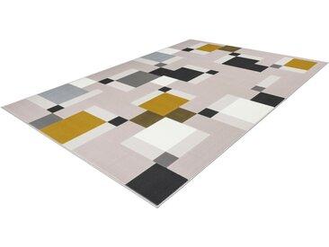 calo-deluxe Teppich »Lissy 325«, rechteckig, Höhe 10 mm, Retro-Optik, Kurzflor, natur, grün-creme