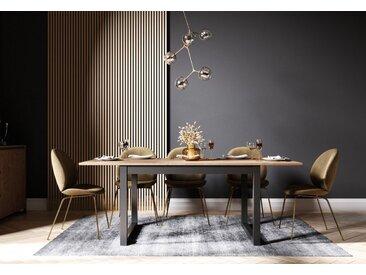 Newroom Esstisch »Vincent«, ausziehbar 160-200 cm inkl. Tischplatte Anthrazit Wildeiche Vintage Landhaus Küchentisch Speisetisch Esszimmer