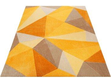 Wecon home Teppich »Next Time«, rechteckig, Höhe 9 mm, Kurzflor, Konturenschnitt, gelb, gelb-beige