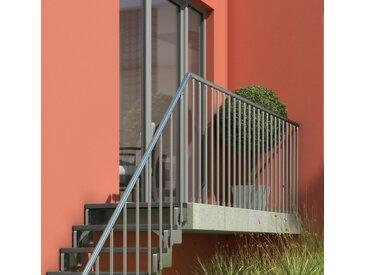 Dolle DOLLE Brüstungsgeländer »Gardentop«, BxH: 150x90 cm, silberfarben, silberfarben