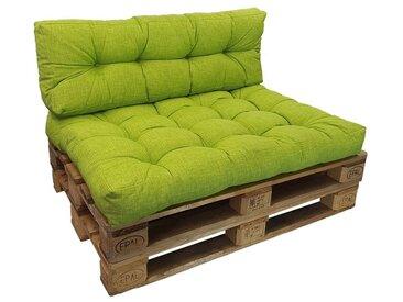 SunDeluxe Sitzkissen »Palettenkissen Comfort 15 cm«, grün, apfelgrün