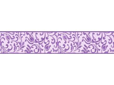 A.S. Création Bordüre »Only Borders«, strukturiert, mehrfarbig, floral, selbstklebend, lila, lila-rosa
