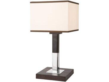 Licht-Erlebnisse Tischleuchte »CALI Nachttischlampe Braun Creme Stoffschirm eckig Hotel Schlafzimmer Lampe«