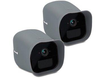 kwmobile Kameratasche, 2x Hülle für Arlo Go - Silikon Security Camera Cover Schutzhülle Kamera, grau, grau