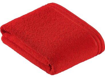 Vossen Badetuch »Calypso« (1-St), mit schmaler Bordüre, rot, purpur