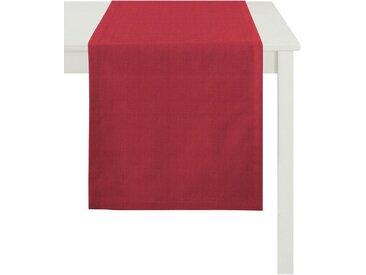 APELT Tischläufer »Arizona, Uni-Basic« (1-tlg), Leinenoptik, rot, rot