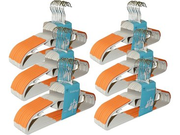 style home Kleiderbügel, (60er Set, 60-tlg), 60 Stück Anzugbügel,360° drehbarer Haken 0,6cm Dicke, Antirutschgummi (Orange), orange, 60 tlg., Orange