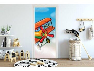 Bilderdepot24 Deco-Panel, Türaufkleber - Kinderbild Flugzeug