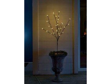 KONSTSMIDE LED Lichterzweig mir runden Dioden, braun, Lichtquelle warm-weiß, Braun