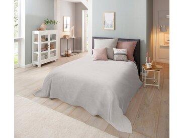 Home affaire Tagesdecke »Melli«, auch als Tischdecke und Sofaüberwurf einsetzbar, grau, hellgrau-meliert
