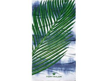 TOM TAILOR Strandtuch »Palma« (1-St), mit großem Palmenblatt, bunt, ocean blue