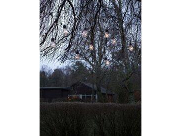 KONSTSMIDE LED Biergartenkette Lichtervorhang, schwarz, 80 LEDs, Lichtquelle bernsteinfarben, Schwarz
