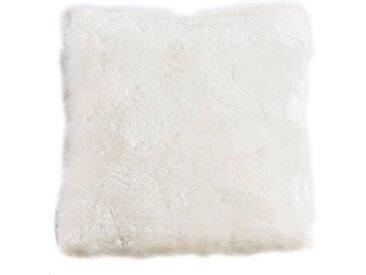 Andiamo Fellkissen »Lamm Fellimitat«, Dekokissen, eckig, 40x40 cm, Kunstfell, inkl. Kissenfüllung, besonders weich durch Microfaser, Wohnzimmer, weiß