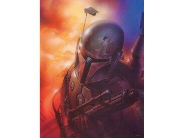 Komar KOMAR Wanddekoration »Star Wars Classic Mandalorian«, ohne Rahmen, bunt, 30 cm, bunt