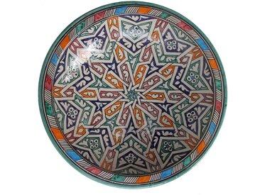 Casa Moro Dekoteller » Orientalischer Keramik Teller F024 Schale bunt Ø 34 cm
