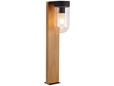 Brilliant Leuchten Cabar Außensockelleuchte 55cm holz dunkel/schwarz, braun, holz dunkel/schwarz
