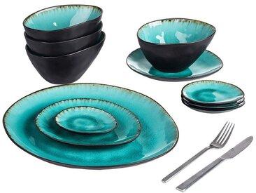 vancasso Geschirr-Set »Aqua« (11-tlg), Steinzeug, 11 teilig Geschirrset Serviergeschirr aus Steinzeug, 11 tlg.