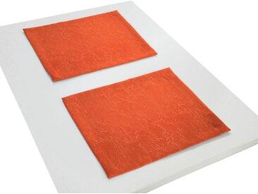 Wirth Platzset, »Lahnstein«, (Packung, 2-St), orange, terrakotta