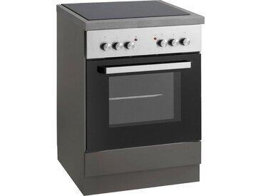 wiho Küchen Herdumbauschrank »Esbo« Arbeitsplatte ohne Ausschnitt für Kochfeld, grau, Anthrazit/Anthrazit