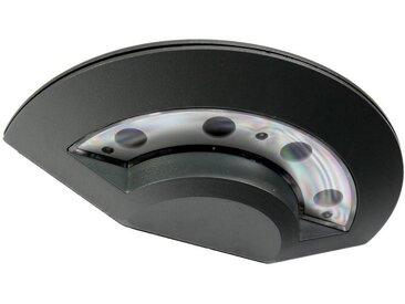 Licht-Erlebnisse Außen-Wandleuchte »DISC LED Wandleuchte Außen Anthrazit Aluminium modern Haustür Lampe«