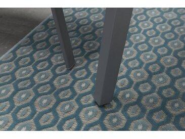GMD Living Outdoorteppich »ECLIPS«, rechteckig, Höhe 5 mm, In- und Outdoor geeignet, grün, türkis