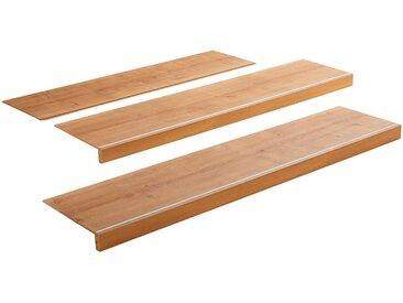 MODERNA Treppenstufen-Set »Scala 1450 - Suna Eiche«, Packung, pflegeleicht, 2 Trittstufen, 1 Stufenerweiterung
