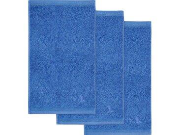 Möve Gästehandtücher »Superwuschel« (3-St), in kräftigen Farben, blau, blau