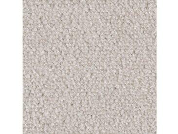 Bodenmeister BODENMEISTER Teppichboden »Velours gemustert«, Meterware, Breite 400/500 cm, natur, weiß/beige
