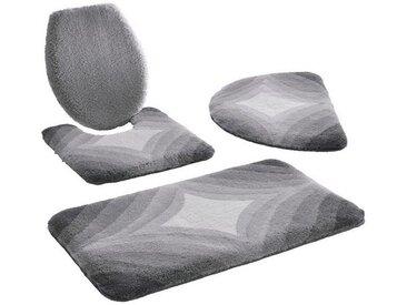 Kleine Wolke Badematte , Höhe 20 mm, grau, silberfarben-grau