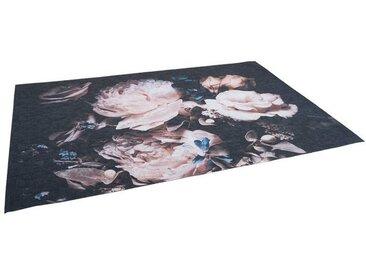 Pergamon Designteppich »Luxus Designerteppich Flores Rosen Creme«, Rechteckig, Höhe 5 mm