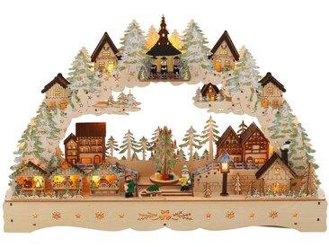 Schwibbogen »LED Weihnachtsleuchter mit drehendem Baum und Musik«, Breite ca. 57 cm