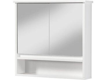 PHOENIX MÖBEL Spiegelschrank »Monaco/Luzern«, 60 cm Breit, weiß, weiß matt