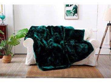 Star Home Textil Wohndecke »Zobel«, aus besonders weichem Webpelz, grün, grün