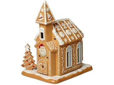 Villeroy & Boch Lebkuchenkirche »Winter Bakery Decoration«, braun, 17x13x20cm, braun,weiß