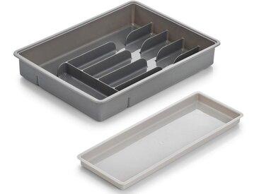 Zeller Present Besteckkasten, mit Ablage, Kunststoff
