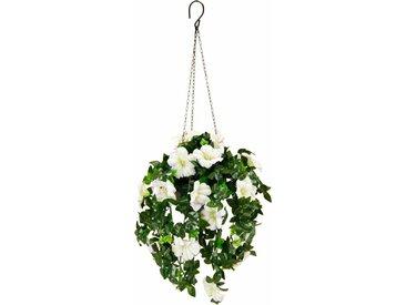 Kunstpflanze »Petunien Hängeampel 66 cm«, höhe 66 Zentimeter, weiß, weiß