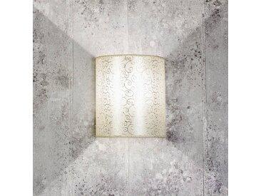 Licht-Erlebnisse Wandleuchte »ALICE Wandlampe Stoffschirm Loft Gipsgrau Wohnzimmer Flur Lampe«
